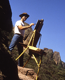 Painting in the Pinnacle National Monument