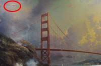Thomas Kinkade Golden Gate painting repair
